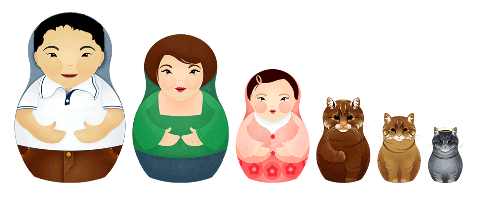 The Yau Family Russian Dolls